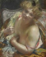 Поль Альберт Бенар. Женщина с обнаженным бюстом.