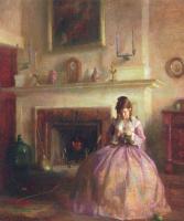 Маргарита Стубер Пирсон. Девочка в розовом платье