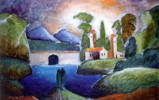 Ilya Ivanovich Mashkov. Landscape with towers