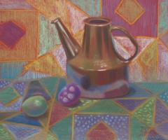 Натюрморт с коричневым чайником