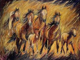 Мари-Андре Беливо. Дикие кони