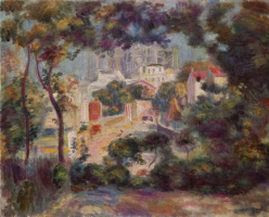 Pierre-Auguste Renoir. View of the new building of the Church of Sacre-Coeur