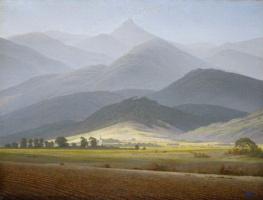 Каспар Давид Фридрих. Горный пейзаж (Вид на Малую Штурмхаубе из Вармбрунна)