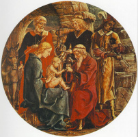 Козимо Тура. Поклонение спасителю