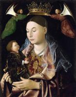 Антонелло да Мессина. Дева с младенцем