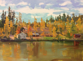 Sergey Alekseevich Makarov. The autumn in Finland...