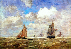 Eugene Boudin. Open sea