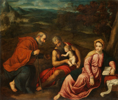 Holy family on the flight into Egypt