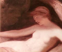 George Romney. Reclining Nude