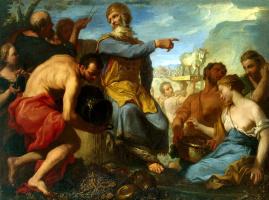 Антонио Молинари. Поклонение золотому тельцу