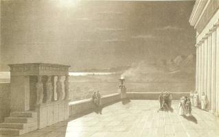 Иван Константинович Айвазовский. Акрополь в Афинах в лунную ночь