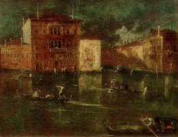 Francesco Guardi. Palazzo Balbi near the Grand Canal in Venice
