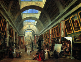 Hubert Robert. The project to design a Large gallery of the Louvre