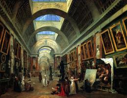 Гюбер Робер. Проект оформления Большой галереи Лувра
