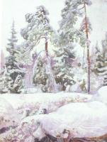 Пекка Халонен. В снегу