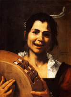 Хосе де Рибера. Девочка с тамбурином