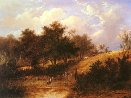 Joseph Torso. Landscape with a pond
