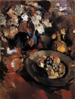 Konstantin Korovin. Still life with fruits and bottle