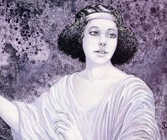 Давид Черри. Портрет женщины