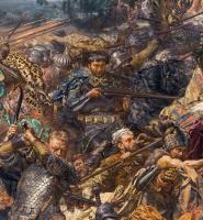 Ян Матейко. Битва при Грюнвальде. Фрагмент. Завица Чарны из Гарбова