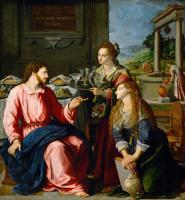 Алессандро Аллори. Христос в доме Марфы и Марии