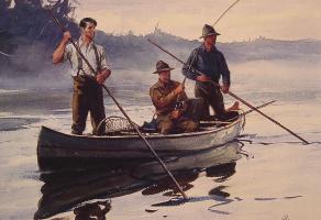 Огден Минтон Плейсснер. В лодке