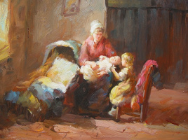 Виндфелдт. Мать с детьми