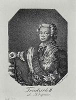 Адольф фон Менцель. Поясной портрет Фридриха II в бытность его кронпринцем