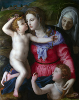 Аньоло Бронзино. Мадонна с младенцем и святыми