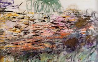Клод Моне. Водяные лилии (правая половина)