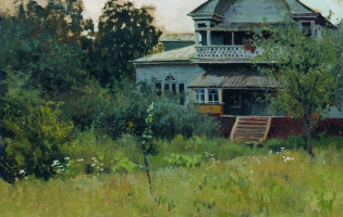 Alexey Stepanovich Stepanov. Farmstead in summer