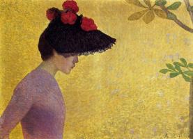 Аристид Майоль. Черная шляпа с красными цветами