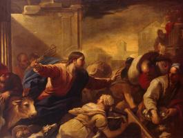 Лука Джордано. Изгнание торгующих из храма