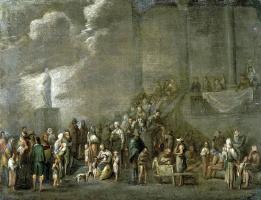 Корнелис де Валь. Раздача хлеба