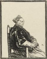 Ян Ливенс. Портрет сидящего в кресле священника