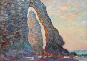 Claude Monet. The rock Needle, the view through the Porte d amont, Etretat