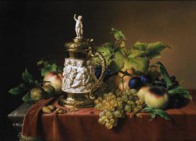 Иоганн Вильгельм Прейер. Фрукты и кружка из слоновой кости. 1838