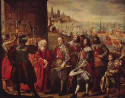 Антонио де Переда. Спасение Генуи маркизом Санта Крус