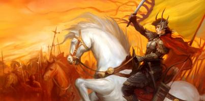 Джинсонг Чен. Всадник с мечом на белом коне