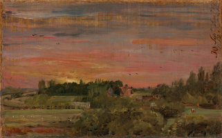 John Constable. House the parish priests, Eastern Bergholt