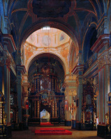 Сергей Константинович Зарянко. Внутренний вид Никольского собора в Петербурге. 1843