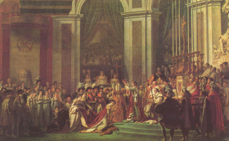 Жак-Луи Давид. Наполеон коронует императрицу Жозефину