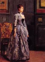 Альфред Стивенс. Портрет женщины в голубом