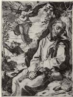 Агостино Карраччи. Святой Франциск и музицирующий ангел