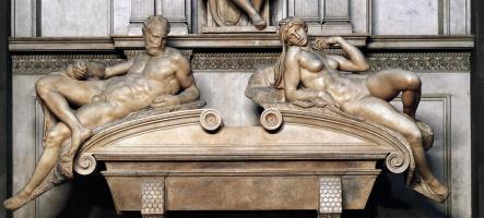 Микеланджело Буонарроти. Гробница Лоренцо Медичи. Фрагмент. Вечер и Утро