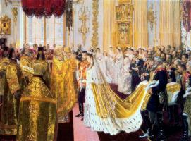 Лауритс Регнер Туксен. Бракосочетание Николая II и великой княгини Александры Федоровны