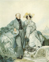 Portrait of Grigory and Varvara Olenin.