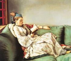 Жан-Этьен Лиотар. Женщина с книгой