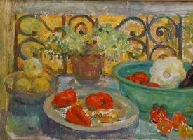 Дина Михайловна Фрумина. Овощи на балконе