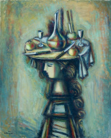 Alexander Grigoryevich Tyshler. Girl in a hat with a still life